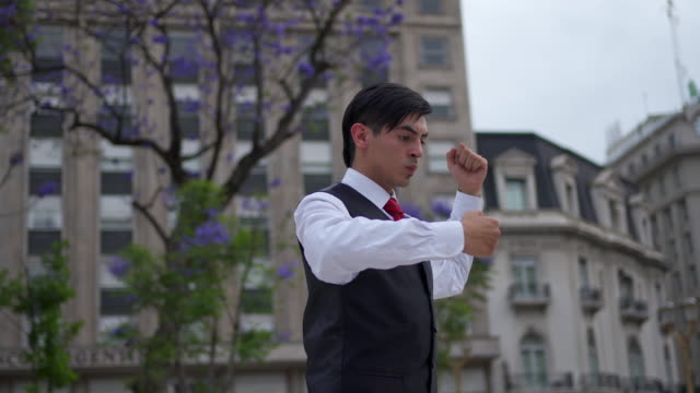 beautiful handsome tango dancer in the city - tangoing stock videos & royalty-free footage