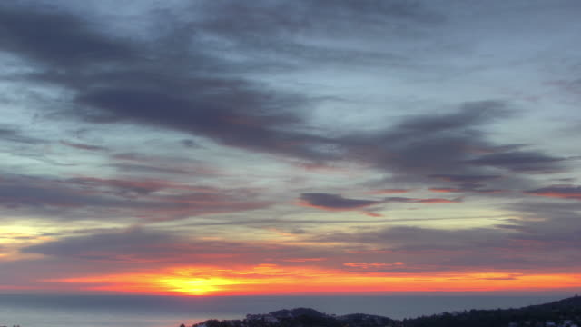 Beautiful HDR Timelapse Sunrise in Cote d'Azur with zoomout