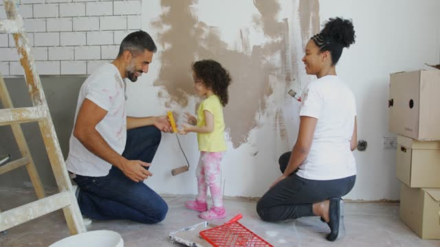 beautiful home for beautiful family - mixed race person stock videos & royalty-free footage