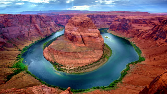 beautiful horeshoe bend - lake powell stock videos and b-roll footage