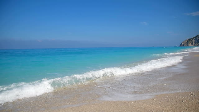 beautiful ionian beach egremni - seascape stock videos & royalty-free footage