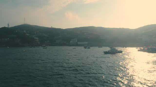 stockvideo's en b-roll-footage met a beautiful island in zhoushan, china - ningbo