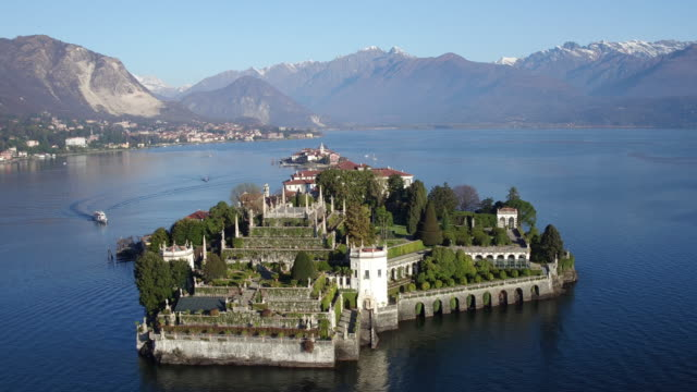 Beautiful Isola Bella island on Lake Maggiore