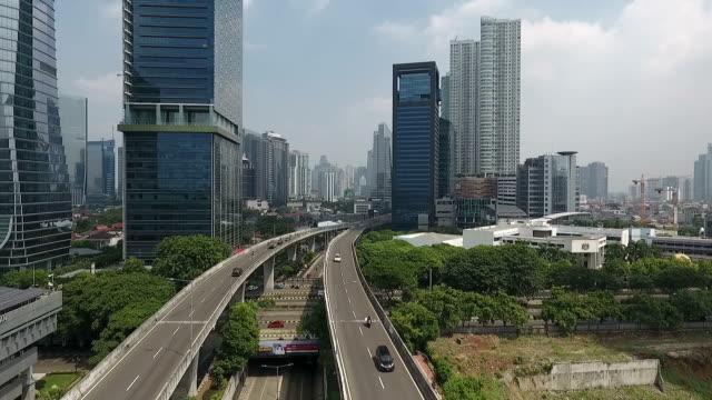 Beautiful Jakarta City, Fly Above Kampung Melayu - Tanah Abang Highway