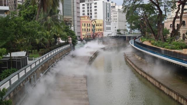 beautiful klang river - sultan abdul samad building stock videos & royalty-free footage