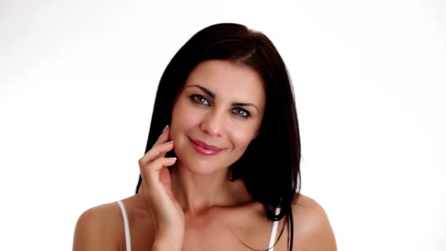 beautiful lady looking at camera - femininity stock videos & royalty-free footage