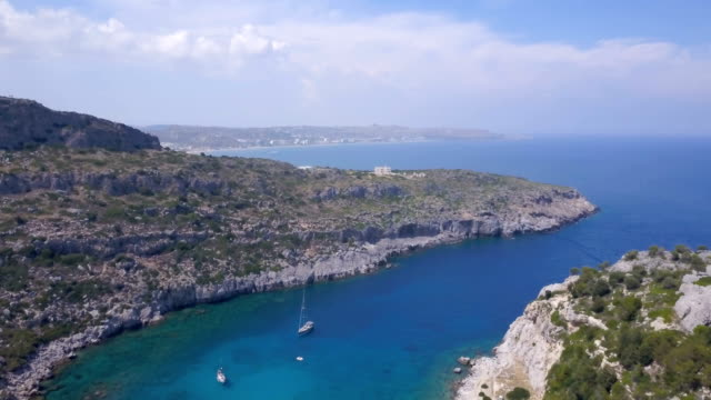 beautiful lagoon - rhodes dodecanese islands stock videos & royalty-free footage