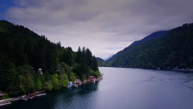 beautiful lake sutherland in washington - lakeshore stock videos & royalty-free footage