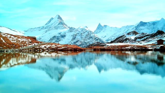 Beautiful lake under Alps, Bachalpsee