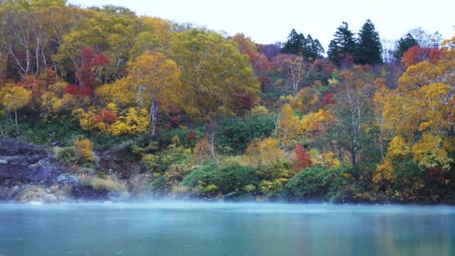 beautiful landscape aomori autumn, japan. - aomori prefecture stock videos & royalty-free footage
