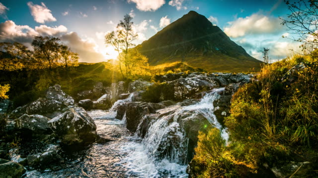 beautiful landscape in scotland - buachaille etive mor - scottish highlands stock videos & royalty-free footage