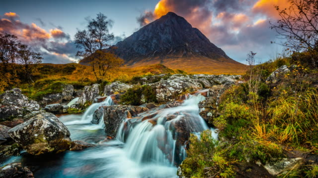 beautiful landscape in scotland - time lapse tracking shot - scottish highlands stock videos & royalty-free footage