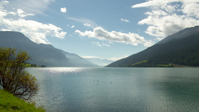 Beautiful landscape, lake in south tyrol
