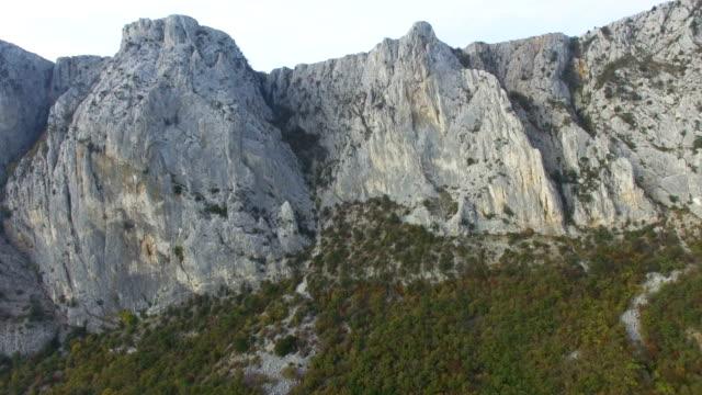 航空: 山と緑の森の美しい風景 - クワッドコプター点の映像素材/bロール