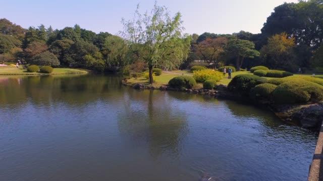 Beautiful Landscaped Park with Lake on Sunny Day - Hong Kong, China