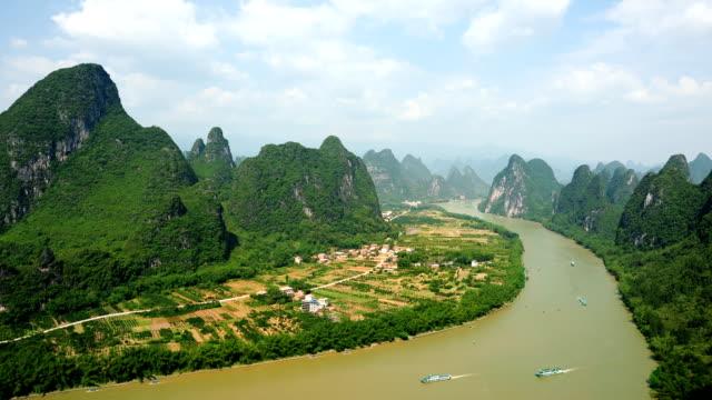 Wunderschöne lijiang river waterway