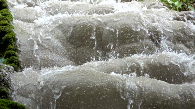 4k beautiful limestone waterfall in the nature - limestone stock videos & royalty-free footage