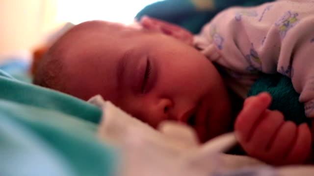 beautiful little baby sleeping