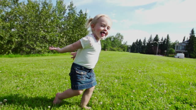 beautiful little girls pretends to fly - one baby girl only stock videos & royalty-free footage