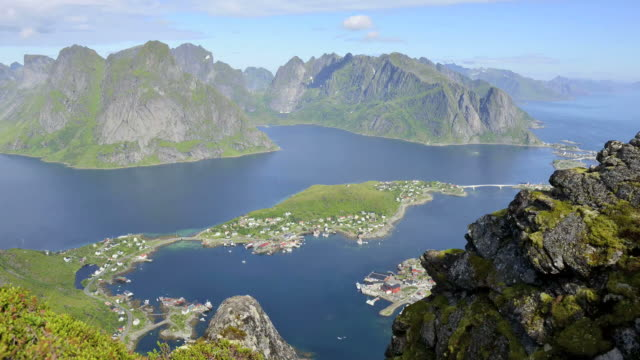 hd time-lapse: beautiful lofoten panorama - panoramic stock videos and b-roll footage