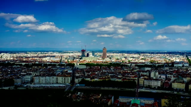 Beautiful Lyon Cityscape in time lapse