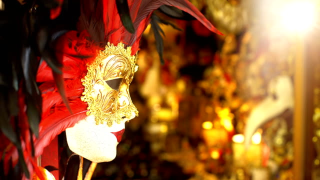 beautiful mask in venice - venice italy stock videos and b-roll footage