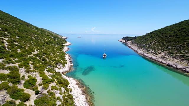 AERIAL Beautiful Mediterranean Bay