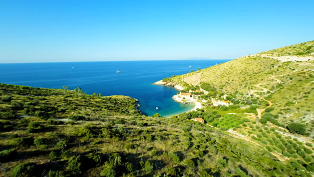 aerial beautiful mediterranean beach - adriatic sea stock videos & royalty-free footage