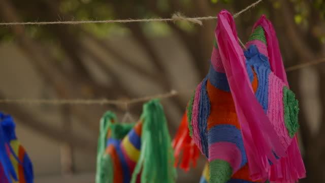 beautiful mexican christmas piñatas - papier stock videos & royalty-free footage