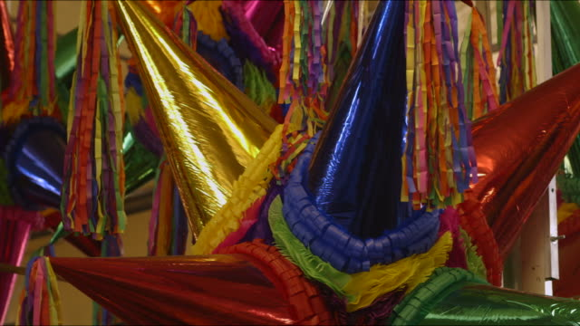 beautiful mexican christmas piñatas - papier stock videos & royalty-free footage