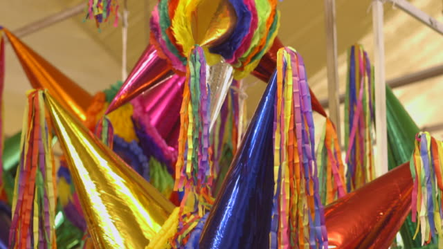 beautiful mexican christmas piñatas - mexiko stock-videos und b-roll-filmmaterial