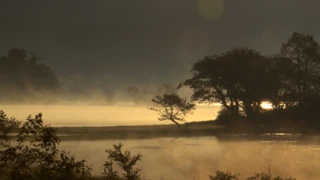 vídeos de stock, filmes e b-roll de manhã bonita no lago hibara - forma da água