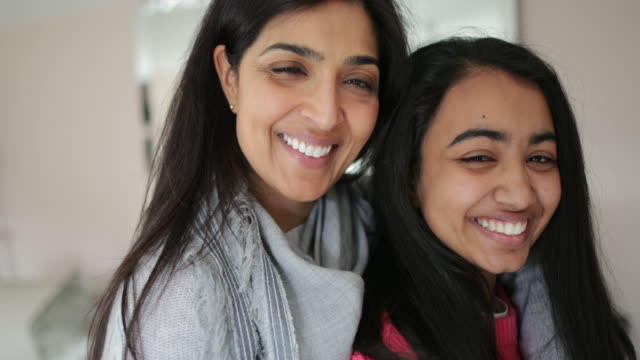 a beautiful mother and daughter - indian mom stock videos & royalty-free footage
