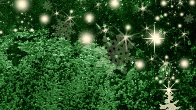 Beautiful motion Christmas Backgrounds with snowflakes and stars.