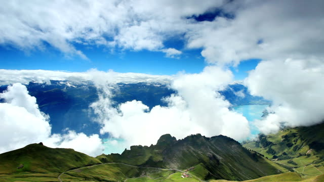 beautiful mountain and cloud - lake thun stock videos and b-roll footage