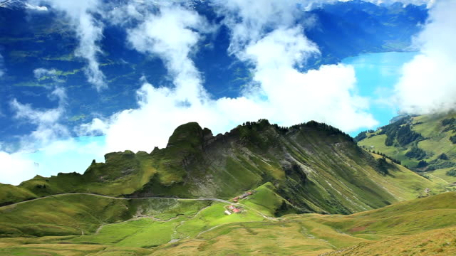 beautiful mountain cloud in rothorn kulm - lake thun stock videos and b-roll footage