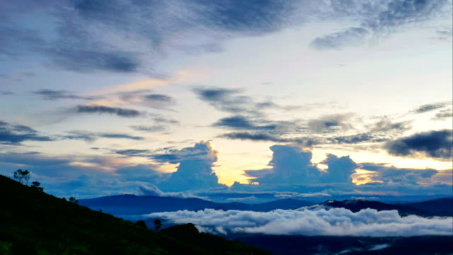 beautiful mountain landscape  at north thailand timelapse. - chiang rai province stock videos and b-roll footage