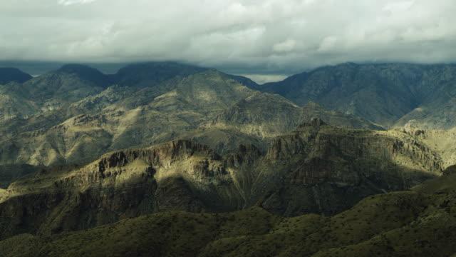 beautiful mountain landscape in southern arizona - sonoran desert stock videos & royalty-free footage