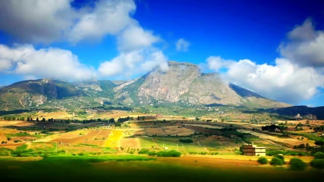 beautiful mountain of sicily - sicily stock videos and b-roll footage