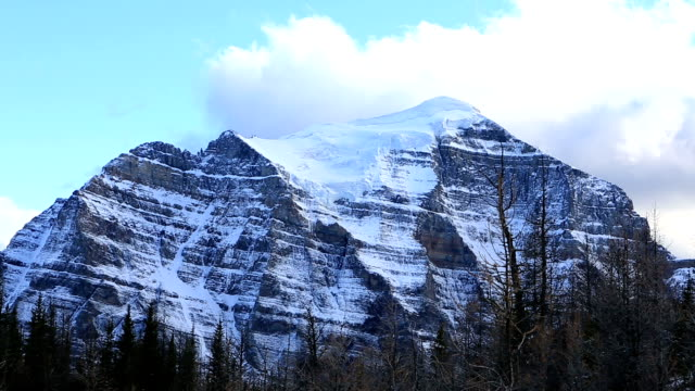 Beautiful mountain peaks time lapse