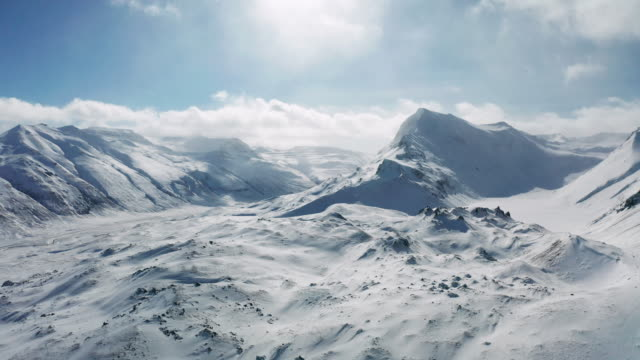 beautiful mountain winter landscape near akureyri, iceland - steep stock videos & royalty-free footage