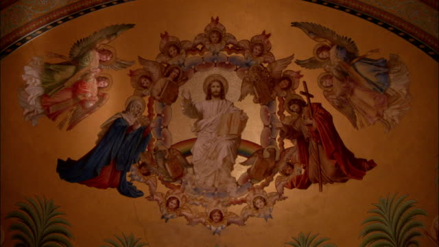 Throne videos and b roll footage getty images a beautiful mural of jesus and six canonized kings decorates a wall in the throne hall altavistaventures Gallery