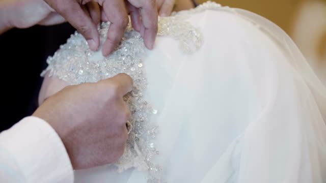 beautiful muslim bride wearing a turban with the tiara - husband stock videos & royalty-free footage