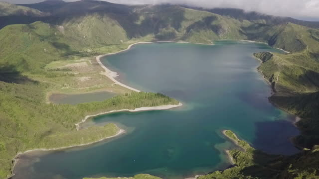 Beautiful Natural Lake in Azores, San Miguel island, HD Video