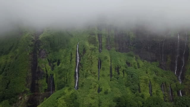 Beautiful Natural Waterfall in Azores, HD Video