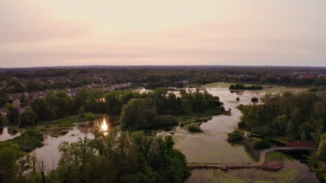 beautiful nature preserve - michigan stock videos & royalty-free footage