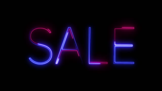 beautiful neon titles-sale for discount days and black friday. - world title stock videos & royalty-free footage