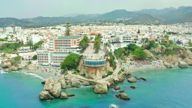 beautiful nerja, malaga, spain - spain stock videos & royalty-free footage