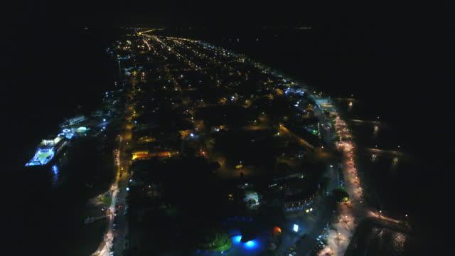 beautiful night puntarenas city - costa rica - puntarenas stock-videos und b-roll-filmmaterial