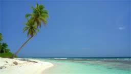 Beautiful ocean beach in dominican republic